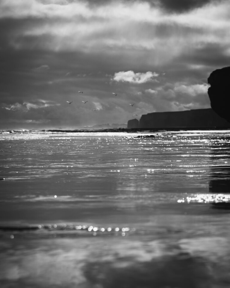 19-10-2020-Paul-Jackson-Photography-Beach-Reflection-Reflective-BW